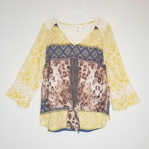 Anthro Fig and Flower Lace Blouse